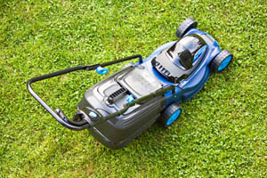 horticulture lawn garden mower device at green