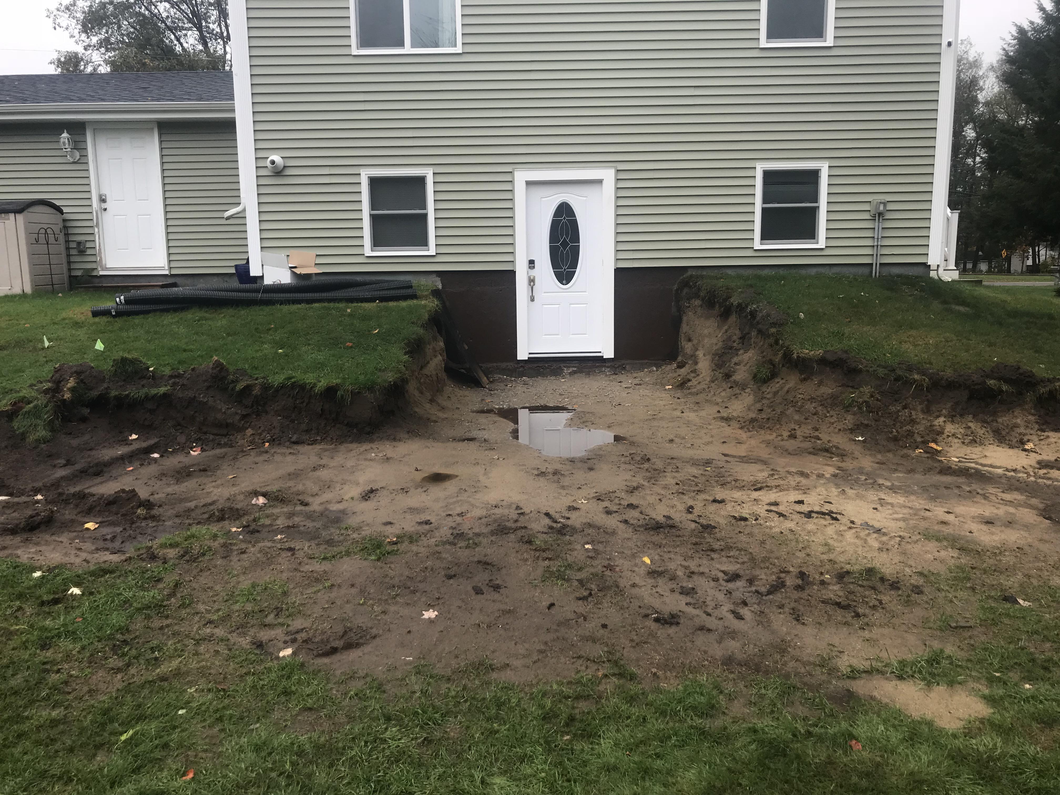 Sanders Road Retaining Wall Before