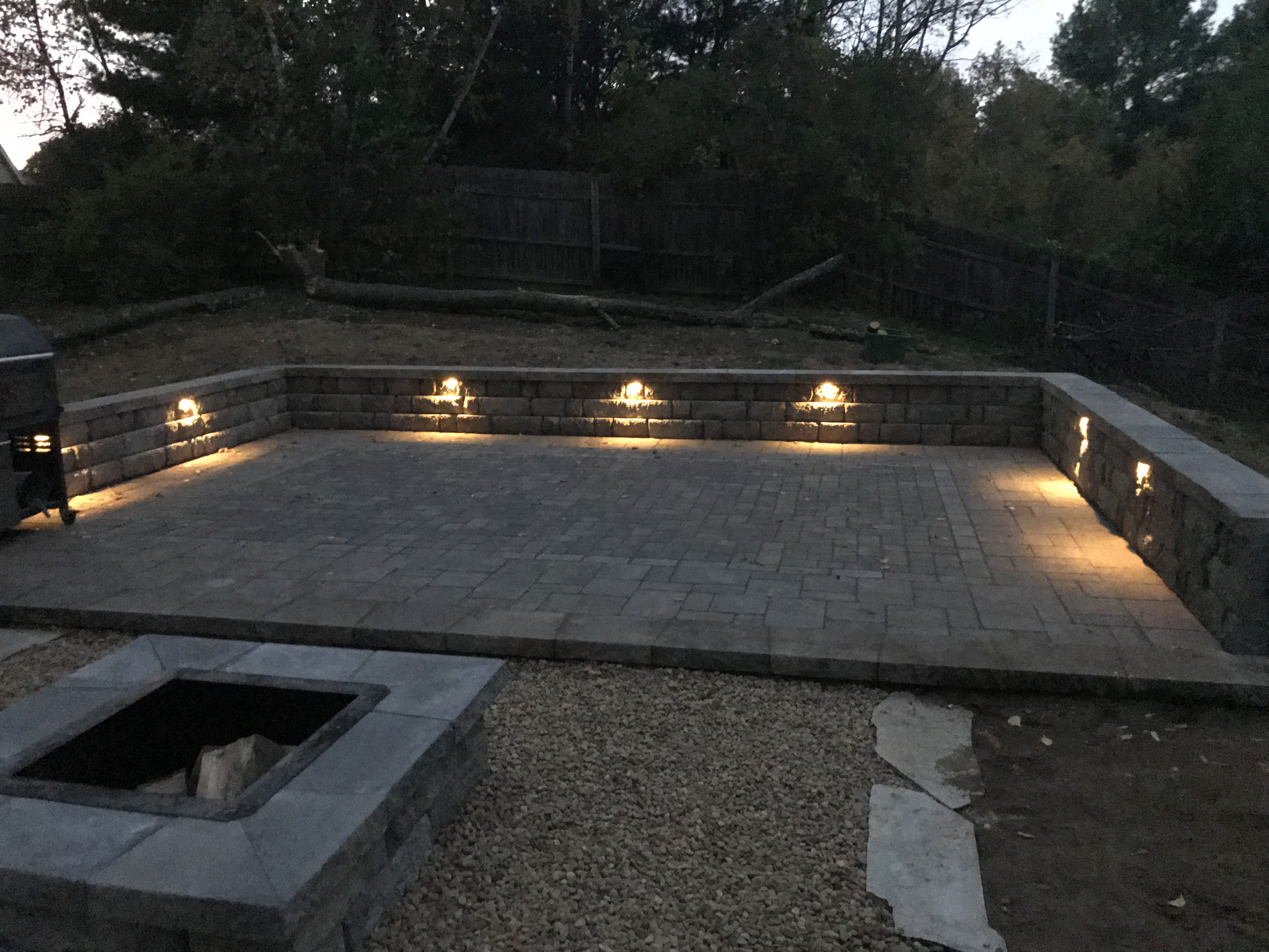 Flintlocke Drive Fire Pit and Patio After